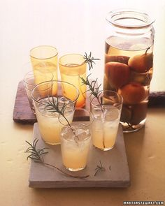 make pear-infused vodka for these fabulous Pear-Rosemary Cocktails
