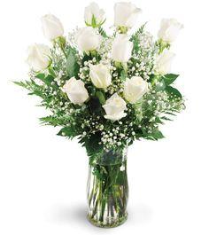 Check out this #beautiful #floral arrangement: Dozen White Roses!