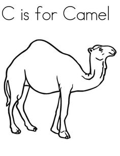free animals camel printable painting pages for preschool Camel