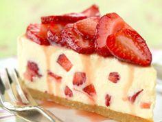 Cheesecake cu branza de vaci si capsuni