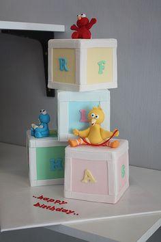 sesame street toddler cake