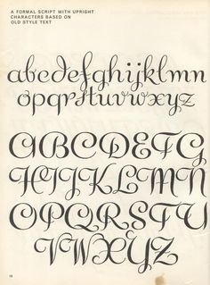 vintage script alphabet ~ Script Lettering M. Meijer ~ a formal script with upright characters based on old style text Script Alphabet, Hand Lettering Alphabet, Script Lettering, Calligraphy Fonts, Typography Letters, Brush Lettering, Caligraphy, Hand Lettering Exemplars, Old Script Font