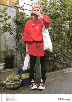FuckYeahFRUiTS Asian Street Style, Tokyo Street Style, Harajuku Fashion, Fashion Outfits, Fruits Magazine, Oh My Heart, Japanese Streets, Aesthetic Clothes, Fitness Fashion