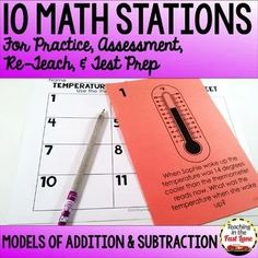 Addition and Subtraction Models within Test Prep Math Stations Math Test, 3rd Grade Math, Math Lesson Plans, Math Lessons, Art Lessons Elementary, Elementary Math, Teaching Subtraction, Nonsense Words, Teaching Strategies