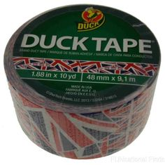 7ff48a56ddca Lot 5 Duck Tape Brand Duct UK Flag Red White Blue 1.9 in x 10 yds Craft  Made USA