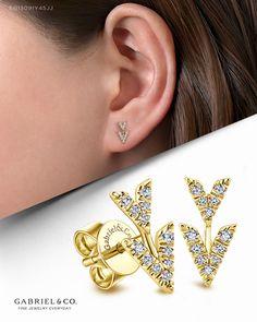 Royal Jewelry, Fine Jewelry, Unique Jewelry, Real Diamond Earrings, Diamond Jewelry, Fashion Earrings, Fashion Jewelry, Cuff Earrings, Gold Fashion