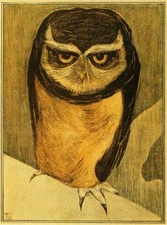 The owls are not what they seem. Theo van Hoytema - January 1905 (Not available as a poster, but how I wish it was.