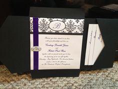 Pocket black & white invite