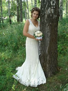 Free patterns wedding dress made of crochet yarn step by step lovely crocheted wedding dress dt1010fo