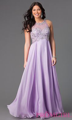 Floor Length Sleeveless Dress by Dave and Johnny at PromGirl.com