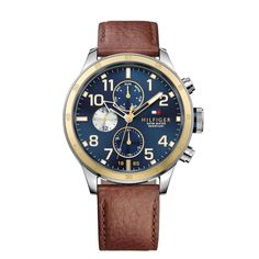 Tommy Hilfiger Men's Chronograph Casual Sport Brown Leather Strap Watch 1791275 In Nero Tommy Hilfiger Watches, Tommy Hilfiger Vintage, Sport Watches, Watches For Men, Men's Watches, Herren Chronograph, Brown Leather Strap Watch, Sport Casual, Women's Casual