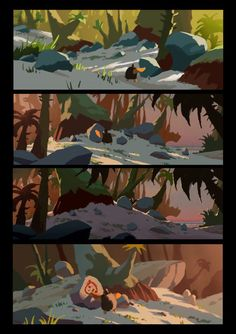 Croods. Dreamworks Animation. Arthur Fong. #background #environment #colors