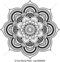 design, flower, henna, mandala