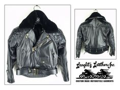 Padded Columbia jacket with added removable faux fur collar - #Langlitz Leathers.
