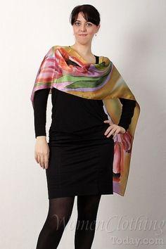 silk scarf tulips