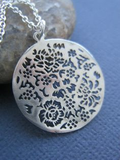 Sale Sterling Silver Filigree Necklace
