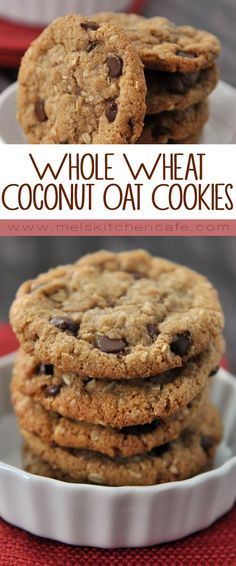 I can't get enough of the slightly crunchy outer edges and super yummy middles of these cookies especially with the oatmeal and whole wheat flour. It really is quite nearly cookie perfection.