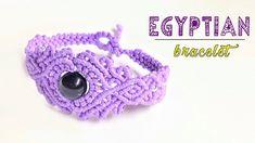 How to macrame: The Egyptian style bracelet - Macrame jewelry set tutori...