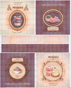 A4 Vintage Bügelbild Macarons Shabby Chic von Doreen`s Bastelstube  - Kreativ & Außergewöhnlich auf DaWanda.com