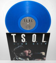 TSOL code blue Lp Record BLUE Vinyl , limited edition , cleopatra records #punk