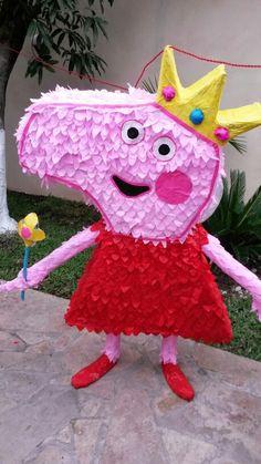 Piñata Peppa Pig de mi hija...