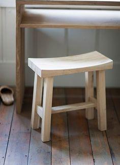 Raw oak stool