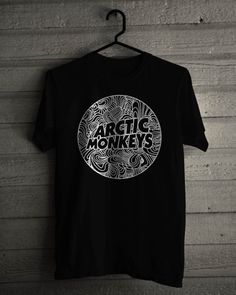 f205b90319 New Arctic Monkeys English Rock Band Graphic Cotton Black T-shirt S-5XL