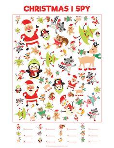 Christmas i spy | fun printable activities for kids