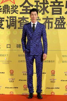 Chinese model Zhang Liang poses at the Huading Music Awards in Shanghai, China, December 18, 2013