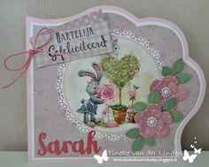 Tineke's kaartenhoekje: Hartelijk gefeliciteerd Marianne Design, Studio Lighting, Box, Cardmaking, Decorative Plates, Bunny, Scrapbook, Ornament, Create