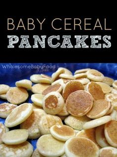 This baby cereal pancake recipe is a great way to use up any leftover baby cereal! These make a great finger food for kiddos, too! Baby Cereal Pancakes, Recipes For Babies, Finger Foods For Babies, First Foods For Baby, Baby Recipes, Infant Finger Foods, Baby Led Weaning First Foods, Baby Led Weaning Breakfast, Baby Breakfast