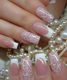 Hot Trendy Wedding Nail Designs