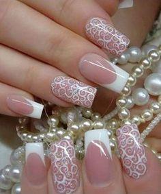 Hot Trendy Wedding Nail Designs