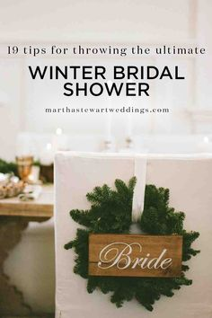 19 Tips for Throwing the Ultimate Winter Bridal Shower | Martha Stewart Weddings - 'Tis the season of festive decorations, fun holiday parties, and memorable moments with your friends and family—and that trifecta also happens to be the just-right recipe for a bridal shower. So, get inspired from winter's wonder—rich flavors, cold-weather activities, and cheerful décor—to pull off a pre-wedding party that celebrates the bride-to-be and the most wonderful time of the year!