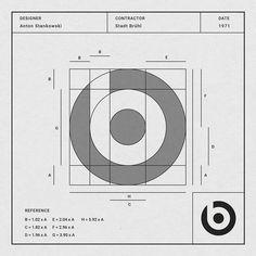 Designer: Anton Stankowski Auftragnehmer: Stadt Bruhl Datum: 1971 Information. Graphic Design Tips, Web Design, Logo Design Inspiration, Icon Design, Graphic Art, 2 Logo, Logo Branding, Corporate Branding, Logo Guidelines