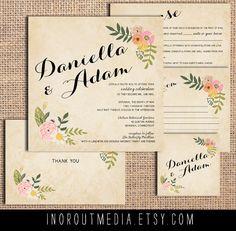 Rustiques Invitations de mariage la Daniella par starboardpress