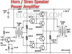 Power Amplifier for Horn Speaker