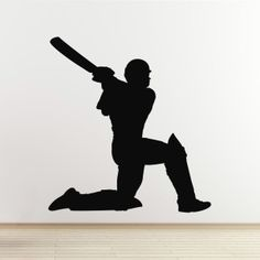 Cricket Wall Decal - Batsman Hitting for Six