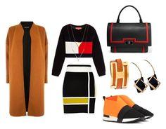 """Graphic Set!"" by esenyav ❤ liked on Polyvore featuring River Island, Warehouse, Balenciaga, Givenchy and Hermès"