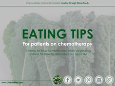 Eating Tips for Cancer Patients by Chemo Bites via Slideshare