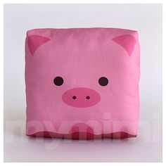 Farm Decor Stuffed Animal Pig Pillow Animal Pillow Pink by mymimi, $18.00