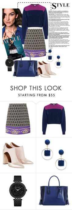 """""""Untitled #111"""" by saltanat-orozalieva ❤ liked on Polyvore featuring VIVETTA, N°21, Sole Society, Caravelle by Bulova and Longchamp"""