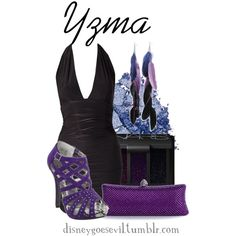 """Yzma"" by disney-villains on Polyvore; Love the shoes and the earrings."
