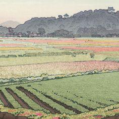 Hikone Castle in Spring, 1951 by Toshi Yoshida (1911 - 1995)