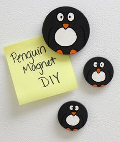 Hand-Painted Penguin Magnets | Heavily Edited