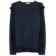 Knitted Sweater With Fringe + 000767 | mytheresa