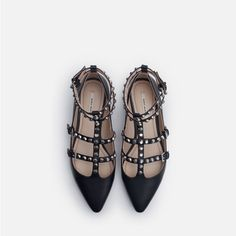 STUDDED BALLERINA FLATS-View all-Shoes-WOMAN | ZARA United States
