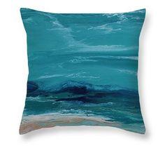 Royal Wave Pillow by  Coastal Living Art Purchase  Beach Pillow by Kimberly #beachart#beachpillow#throwpillow#interiordesign#seascape#nauticaldecor#ocean#kimberlyconraddesigns