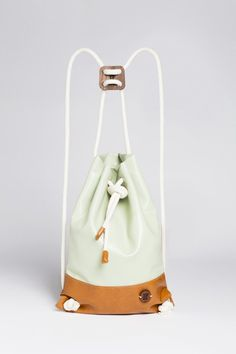 SPECIAL IF Eco-leather Bag - Mint&Brown by IF bags made in Italy on CROWDYHOUSE