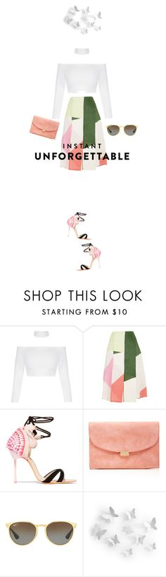 """Shades of You: Sunglass Hut Contest Entry"" by fanfan-zheng ❤ liked on Polyvore featuring TIBI, Sophia Webster, Mansur Gavriel, Ray-Ban, Umbra and shadesofyou"